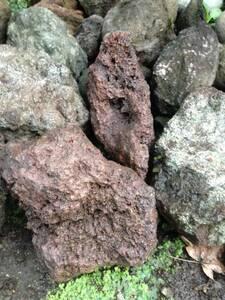 ☆ゴツゴツプツプツ系☆富士山麓発の溶岩石☆ソフトボールからハンドボールサイズの3点セット☆ガーデニングやアクアリウムなどに用途多様