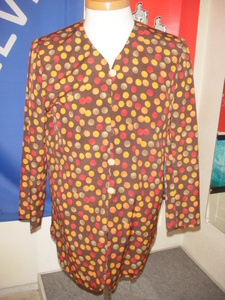 堀井洋裁研究所製作 オーダー 別注品 一点もの 七部袖 ボタン2個欠品 80年代 ハンドメイド 肩パッド付き 中古 美品