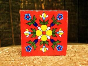 ☆ Новый ☆ [Греция] Восточная керамика Плитка / S Размер / 1 / Красочный / Античный [Состояние Бесплатная доставка]