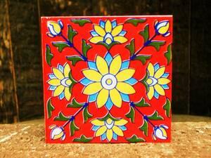 ☆ Новый ☆ [Греция] Восточная керамика плитка / м Размер / 1 / красочный / античный [Состояние Бесплатная доставка]