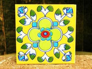 ☆ Новый ☆ [Греция] Восточная керамика Плитка / м Размер / 2 / красочный / Античный [Состояние Бесплатная доставка]