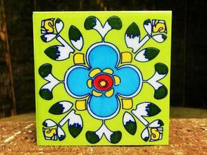 ☆ Новый ☆ [Греция] Восточная керамика Плитка / М Размер / 3 / Красочный / Античный [Состояние Бесплатная доставка]