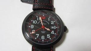 ZENO-WATCH ゼノウォッチ クォーツ B554Q BK-Red-L 展示未使用品 電池交換済み
