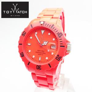 TOYWATCH トイウォッチ 腕時計 FL06OR アナログウォッチ カレンダー ダイバータイプ 軽量 防水 ボーイズ メンズ レディース ネオンオレンジ