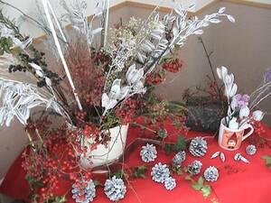 ドライフラワー 素材100点 フラワーアレンジ リース アート 立花 ハンドクラフト 素材  ディスプレイ 造花+