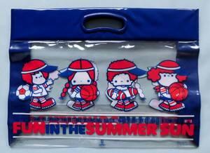 1976年製 パティ&ジミー サンリオ 日本製 ビニールバッグ 昭和レトロ 当時物