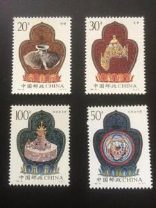 ★既決★中国切手 4種完 西蔵 未使用