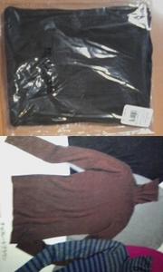 新品未開封 タートルネック タートルニット 茶 チョコレート ブラウン L ピーチジョン Lサイズ ニット PJ 洋服 PEACH JOHN