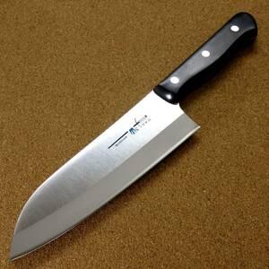 関の刃物 スジ三徳包丁 17cm (170mm) TSマダム AUS-8 クロムモリブデン ステンレス 家庭用 肉 魚 野菜切り 両刃万能包丁 文化包丁 日本製