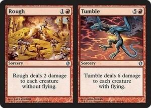 え赤 乱暴+転落 1枚(4枚在庫s 英 良品 C13)/Rough+Tumble(MTG /統率者(2013年版)/Commander 2013/)