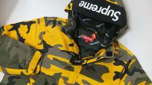 シュプリーム Sサイズ! Hooded Logo Half Zip Pullover 新品未使用!国内正規品!半タグ付 ブルックリン Yellow Camo 迷彩 Supreme 17aw