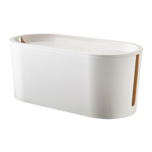 * IKEA Ikea * ROMMAroma кабель management box крышка имеется, белый < ширина : 33 cm> стоимость доставки 710 иен ~ u *2h