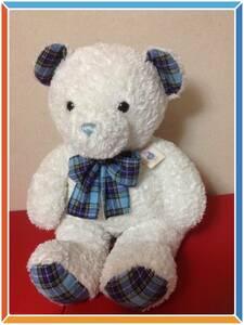 美品★Classic BIG sizeテディベアー Bearインテリア大きい白熊のぬいぐるみ動物Xマスkids子供オブジェ白色玩具プレゼント誕プレ ギフト