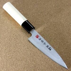 関の刃物 ペティナイフ 12cm (120mm) 濃州正宗作 梨地 ステンレス 果物包丁 野菜 果物の皮むき フルーツの飾り切り 小型両刃ナイフ 日本製
