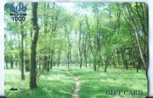 【QUOカード】 クオカード未使用 森林 1,000円分 Tポイント消化に!<スタンダード/ギフトカード>