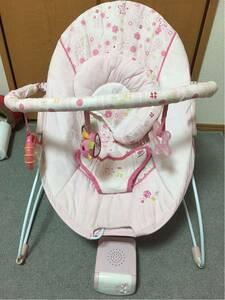 【中古品】Bright Starts kidsⅡ 乳児用バウンサー 単2 3本使用 おもちゃ付き