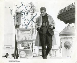 1968年 BULLITT ブリット Steve McQueen スティーブ・マックイーン サイン フォト 他、マックイーン・サイン集と、モノクロ写真付き