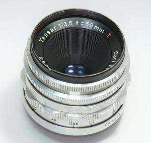 ドイツ製 Carl Zeiss Jena Tessar 1:3.5 f=50mm 絞羽14枚 M42 2N-040 初期型 Q1 Red T レア