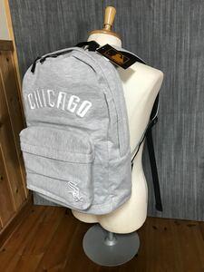★MLB Chicago スウェットリュック バックパック グレー 男女兼用 通勤 通学 中高生