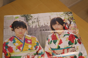 欅坂46 渡辺梨加 渡辺理沙 NMB48 白間美瑠 太田夢莉 両面ポスター