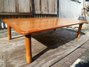 M5094 座卓 ビンテージ 折りたたみ机 木製 昭和63年製 テーブル ちゃぶ台 食卓 (3001)
