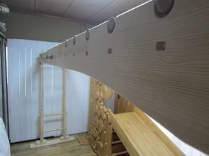 ★モンキーフリップ1パラレル仕様★室内うんてい・伸縮機能・ロング・ブレキエーション・ハンドメイド・手作り・ぶら下がり・懸垂・あそび