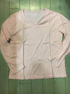 ♪メンズLサイズ表記 長袖 Tシャツ ピンク 1.2回のみ着用の USED♪