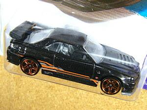 2013 HW ☆ ニッサン スカイライン GT-R (R34) ガンブラックx オレンジサイドライン NISSAN SKYLINE GT-R R34
