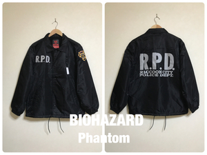 【新品】 BIOHAZARD R.P.D RACCON POLICE DEPT CAPCOM × PHANTOM バイオハザード ラクーン警察 ファントム製 ウインド ジャケット 長袖 M
