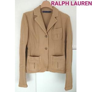 正規良品 ラルフローレン 上質 テーラード ジャケット ストレッチ コットン ブレザー アウター ベージュ RALPH LAUREN