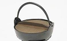 アルミ鍋 アルミ18cm鍋 木蓋付き 一人キャンプ お鍋 囲炉裏 一人鍋 民芸調 ポイント消化