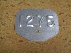 Mini Cooper S engine tag 1275 for searching BMC MK-1 MINI COOPER S