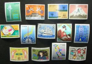 ★1986年発行の記念切手13種完セット★未使用完全美品NH★