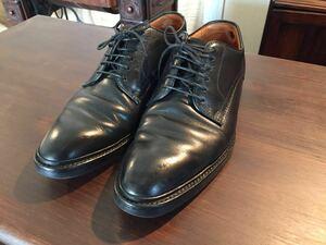 【美品】 REGAL リーガル ビジネスシューズ 革靴 黒 ブラック メンズ 26.0 プレーントゥ ドレスシューズ レザー 定価3万円 メンズ 紳士