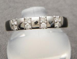 新品◆Pt950 輝くダイヤ 0.16ct ファッションリング