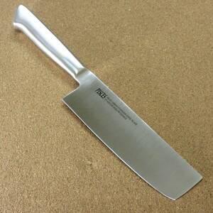 関の刃物 菜切り包丁 16cm (160mm) PISCES (パイシーズ) モリブデン ステンレス一体型ハンドル 野菜切り 両刃包丁 大根のかつらむき 日本製