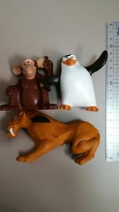 動物の人形 プラスチック製