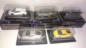 即決 京商 1/64 ランボルギーニ ウラカン LP610-4 黄と銀、LP620-2 スーパートロフェオ 白と黒とグレー№63 5台セット
