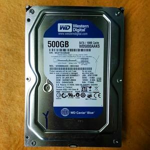 岐阜 即日 送料164円 ★WD WD5000AAKXS 500GB SATA HDD ジャンク 管H263
