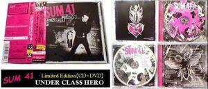 帯付★初回限定 2枚組 CD+DVD アンダークラス・ヒーロー SUM41★日本盤 ボーナス映像収録★UnderclassHero Underclass Hero パンク サム41