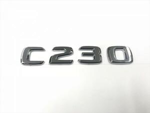 純正同形状 社外/C230/リア/エンブレム/ベンツ/排気量/グレード/Cクラス/AMG/W202/W203/W204/W205/クローム/メッキ