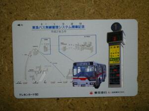 bus・110-87829 東急バス 無線管理システム 池上駅行き 三菱電機 テレカ