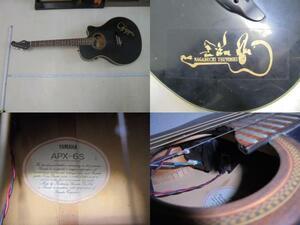 AKa5991◆隼◆YAMAHA APX-6S エレクトリックアコースティックギター 長渕剛? 中古 ジャンク 詳細不明 蔵出