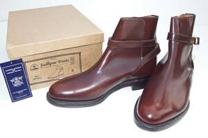 希少デッドストック新品英国製98限定旧リアルマッコイズサービスシューズローク Loake Service-Shoesガラスレザー8ジョッパーブーツ箱あり