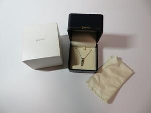 ★TASAKI 田崎真珠 K18WG ダイヤモンド 0.10ct ネックレス