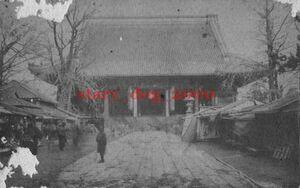 複製復刻 絵葉書/古写真 東京 金龍山 浅草寺本堂 明治期 AS_001