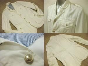 名作 本物 美品 ヤコブコーエン JACOB COHEN M-65 ホワイト ジャケット 白 M