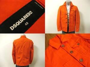 名作 本物 美品 国内正規品 DSQARED2 ディースクエアード ジャケット ブルゾン オレンジ 48