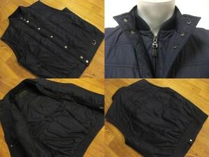 名作 本物 国内正規品 美品 高級 Salvatore Ferragamo サルヴァトーレフェラガモ 中綿 ベスト ジャケット ネイビー メンズ 48
