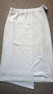 ☆新品 SLY オフホワイトミディアム丈巻きスカート☆1 福袋